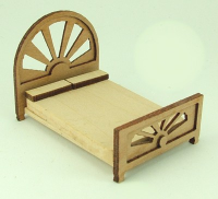 48th scale Art Deco style Double Bed Kit