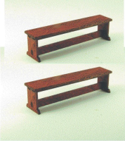 48th scale set of two Tudor style bench seats kit