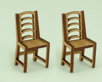 48th scale set of two Ladder back chairs kit