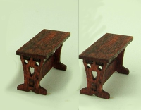 48th scale set of two Tudor style seats kit
