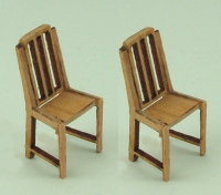 48th scale set of two Slat Back Chairs kit