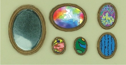 48th scale Oval Mirror or Picture Frames Kit