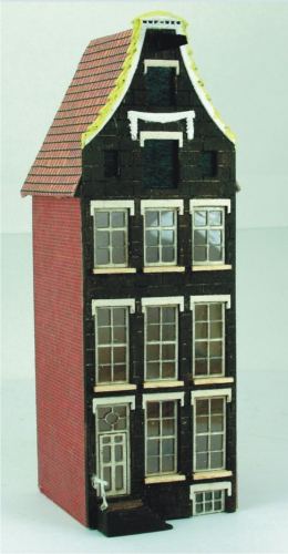 144th scale Amsterdam Canal House Kit - Bell Gabled Festooned House