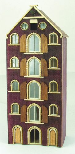144th scale Amsterdam Canal House Kit - Saddle Roofed Warehouse