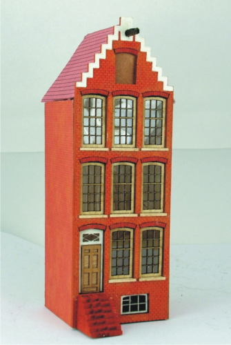 144th scale Amsterdam Canal house Kit - Step Gabled House