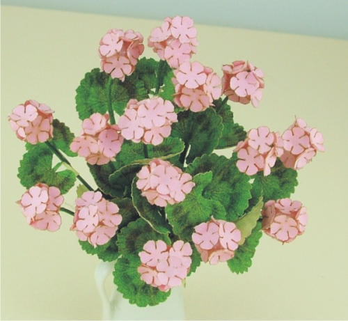 12th scale Pink Geraniums Kit
