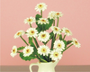 12th scale White Gerberas kit