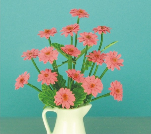 12th scale Deep Pink Gerberas kit