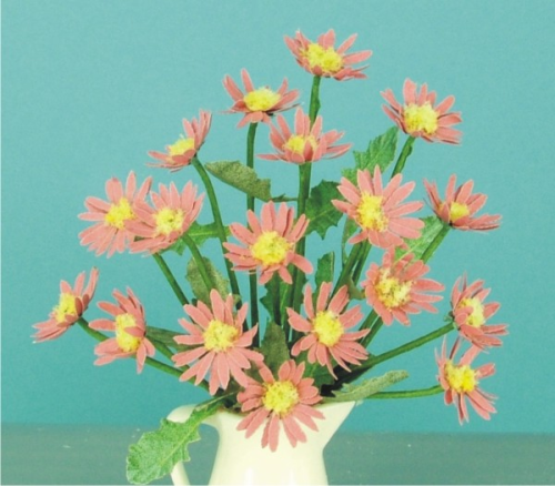 12th scale Coral Red Daisies Kit