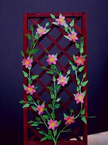NEW - 12th scale laser cut 'Jackmanii Rubra' Clematis Kit