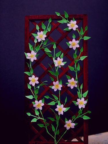 NEW - 12th scale laser cut 'Hagley Hybrid' Clematis Kit