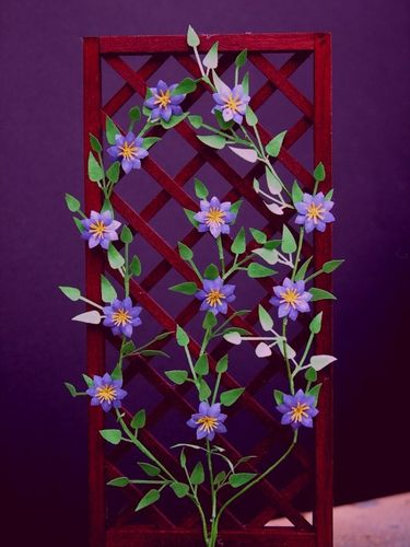 NEW - 12th scale laser cut Clematis 'Lasurstern' Kit