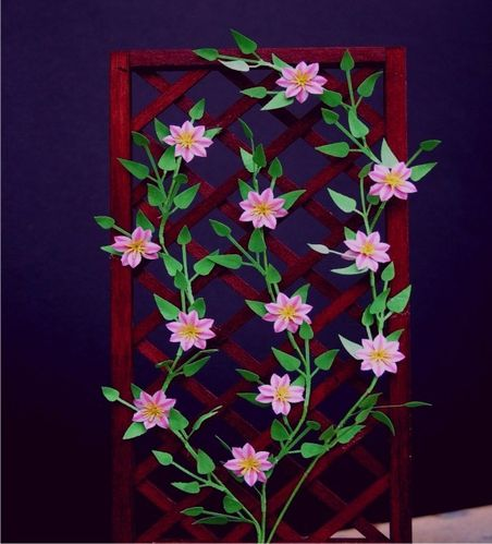 NEW - 12th scale laser cut Clematis 'Nellie Moser' Kit