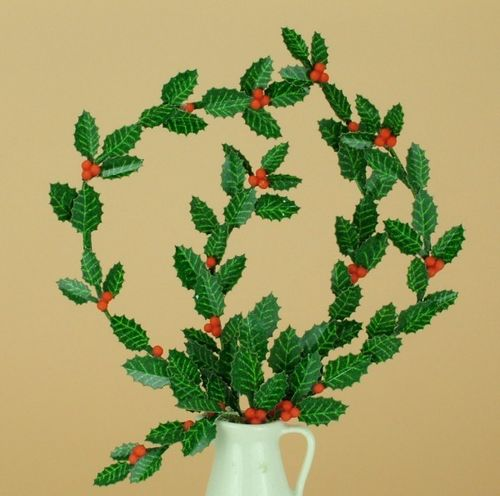 NEW - 12th scale laser cut Holly Leaves Kit