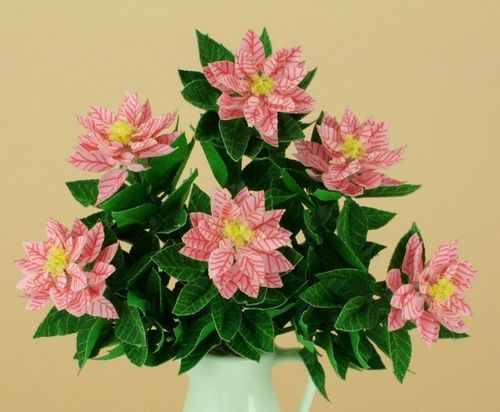 NEW - 12th scale laser cut Pink Poinsettia Kit