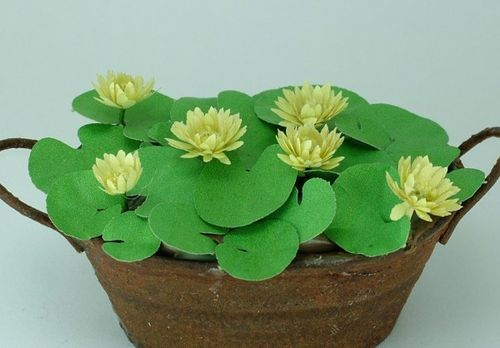 12th scale yellow water lilies kit